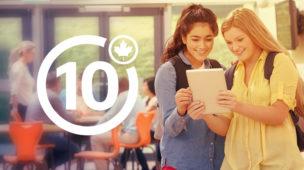 10 melhores escolas no Canadá