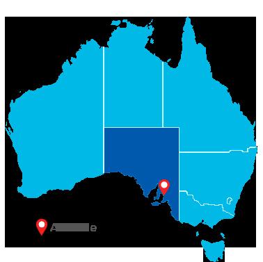 adelaide australia mapa