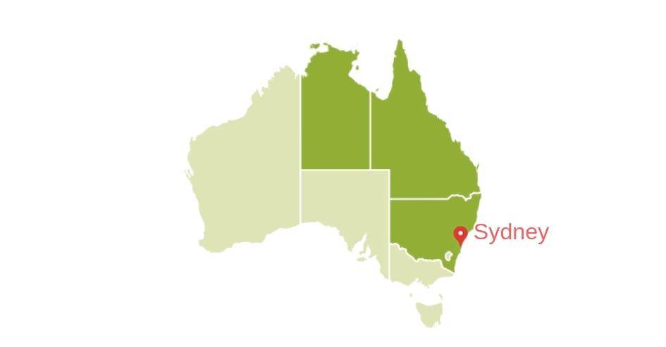localização Sydney